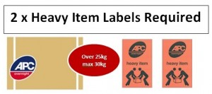 heavy item labels